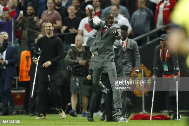 Zlatan Ibrahimovic of Manchester United Eric Bailly of Manchester Unitedduring the UEFA Europa League final match between Ajax Amsterdam and...