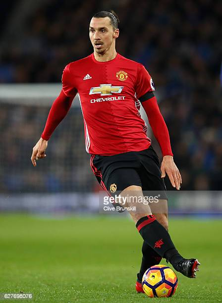 Zlatan Ibrahimovic of Manchester United in action during the Premier League match between Everton and Manchester United at Goodison Park on December...