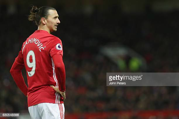 Zlatan Ibrahimovic of Manchester United in action during the Premier League match between Manchester United and Sunderland at Old Trafford on...
