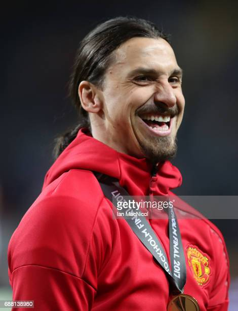 Zlatan Ibrahimovic of Manchester United is seen during the UEFA Europa League Final match between Ajax and Manchester United at Friends Arena on May...