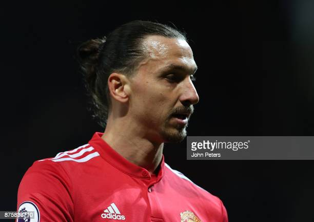 Zlatan Ibrahimovic of Manchester United walks off after the Premier League match between Manchester United and Newcastle United at Old Trafford on...
