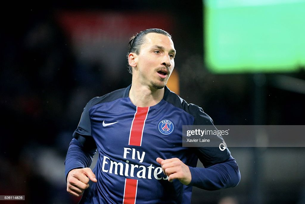 <a gi-track='captionPersonalityLinkClicked' href=/galleries/search?phrase=Zlatan+Ibrahimovic&family=editorial&specificpeople=206139 ng-click='$event.stopPropagation()'>Zlatan Ibrahimovic</a> of Paris Saint-Germain celebrate his second goal during the French Ligue 1 match between Paris Saint-Germain and Stade Rennais at Parc des Princes on april 29, 2016 in Paris, France.