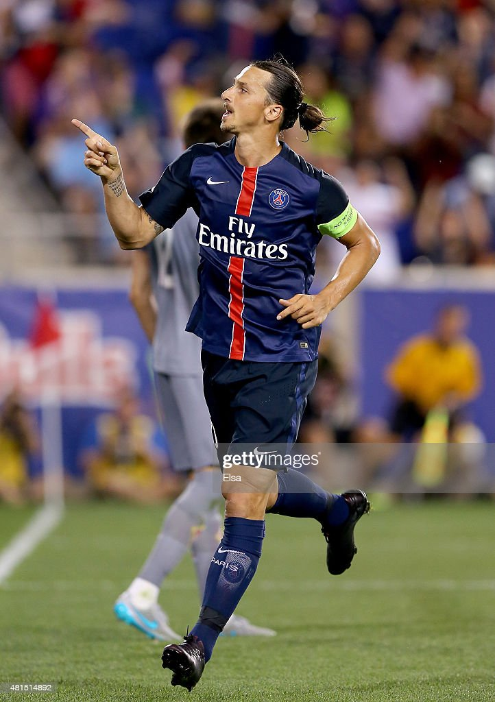 <a gi-track='captionPersonalityLinkClicked' href=/galleries/search?phrase=Zlatan+Ibrahimovic&family=editorial&specificpeople=206139 ng-click='$event.stopPropagation()'>Zlatan Ibrahimovic</a> #10 of Paris Saint-Germain celebrates his goal in the second half against AFC Fiorentina during the International Champions Cup at Red Bull Arena on July 21, 2015 in Harrison, New Jersey.Paris Saint-Germain defeated ACF Fiorentina 4-2.