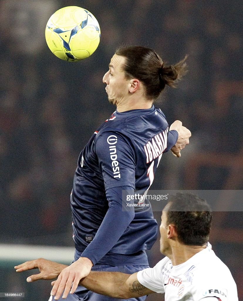 <a gi-track='captionPersonalityLinkClicked' href=/galleries/search?phrase=Zlatan+Ibrahimovic&family=editorial&specificpeople=206139 ng-click='$event.stopPropagation()'>Zlatan Ibrahimovic</a> of Paris Saint-Germain during the French League 1 between Paris Saint-Germain FC and Montpellier Herault SC, at Parc des Princes on March 29, 2013 in Paris, France.