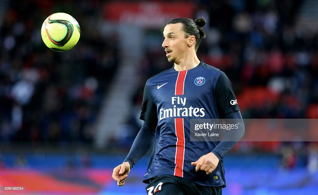 <a gi-track='captionPersonalityLinkClicked' href=/galleries/search?phrase=Zlatan+Ibrahimovic&family=editorial&specificpeople=206139 ng-click='$event.stopPropagation()'>Zlatan Ibrahimovic</a> of Paris Saint-Germain during the French Ligue 1 match between Paris Saint-Germain and Stade Rennais at Parc des Princes on April 29, 2016 in Paris, France.