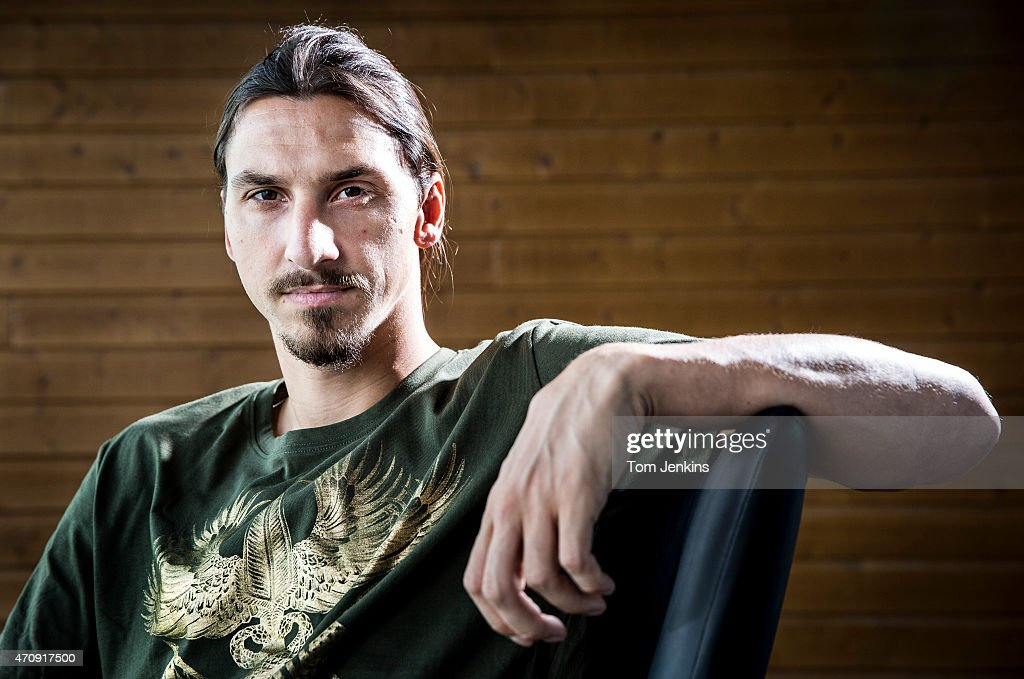Zlatan Ibrahimovic of PSG and Sweden poses for a portrait at the Paris St Germain training centre in St Germin-en-Laye near Paris on October 3, 2014 in France.