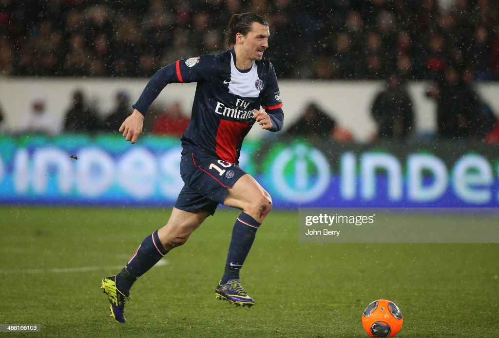 <a gi-track='captionPersonalityLinkClicked' href=/galleries/search?phrase=Zlatan+Ibrahimovic&family=editorial&specificpeople=206139 ng-click='$event.stopPropagation()'>Zlatan Ibrahimovic</a> of PSG in action during the Ligue 1 match between Paris Saint-Germain FC and FC Girondins de Bordeaux at the Parc des Princes stadium on January 31, 2014 in Paris, France.