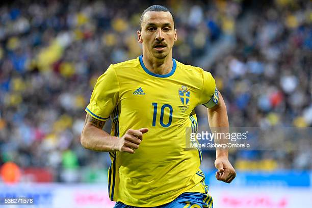 Zlatan Ibrahimovic of Sweden during the international friendly between Sweden and Wales at Friends Arena on June 5 2016 in Solna Sweden
