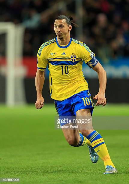 Zlatan Ibrahimovic of Sweden during the UEFA EURO 2016 Qualifying match between Sweden and Moldova at the National Stadium Friends Arena on October...