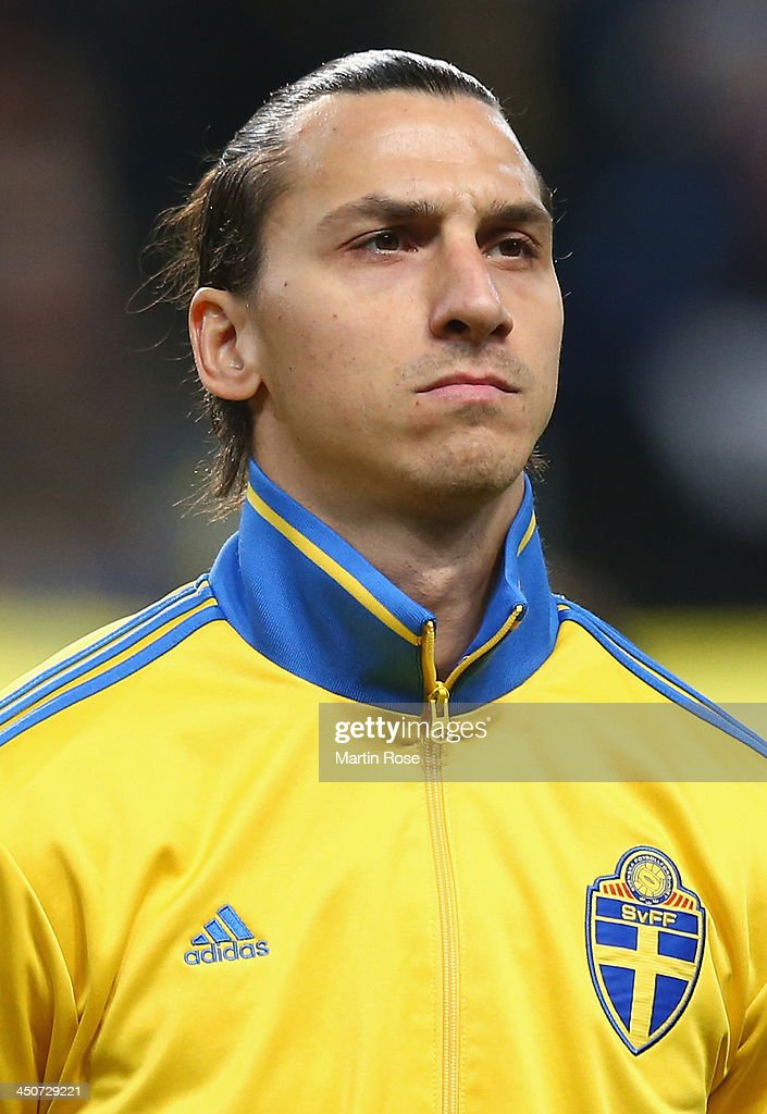 Zlatan Ibrahimovic of Sweden looks on before the FIFA 2014 World Cup Qualifier Playoff Second Leg match between Sweden and Portugal at Friends Arena...