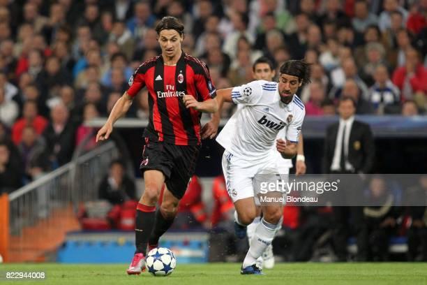 Zlatan Ibrahimovic / Sami Khedira Real Madrid / Milan AC Champions League 2010/2011