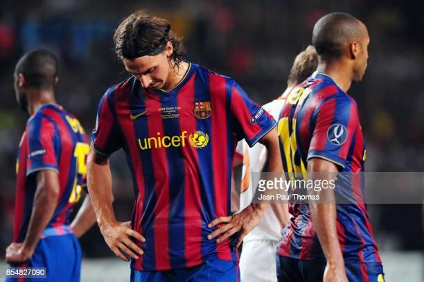Zlatan IBRAHIMOVIC Thierry HENRY Barcelone / Shakhtar Donetsk Super Coupe d Europe 2009 Stade Louis II de Monaco