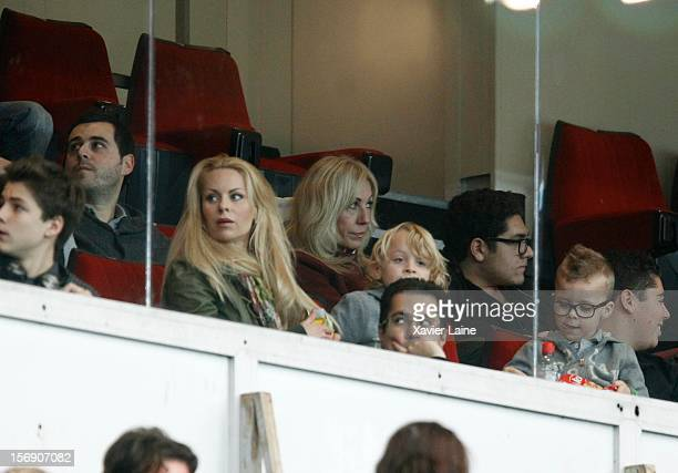 Zlatan Ibrahimovic wife Helena Seger attends the French Ligue 1 between Paris SaintGermain FC and Troyes ESTAC at Parc des Princes on November 24...