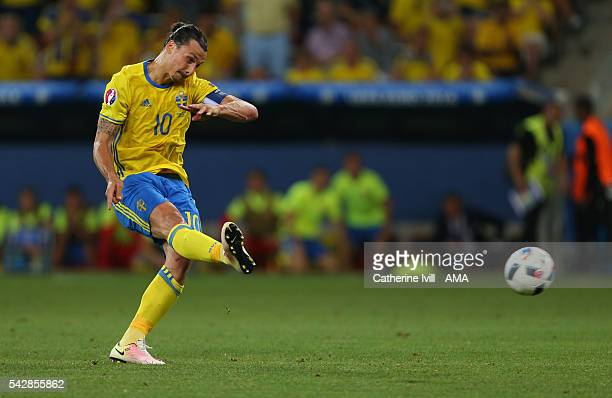 Zlatan Ibrahimovich of Sweden during the UEFA EURO 2016 Group E match between Sweden and Belgium at Allianz Riviera Stadium on June 22 2016 in Nice...