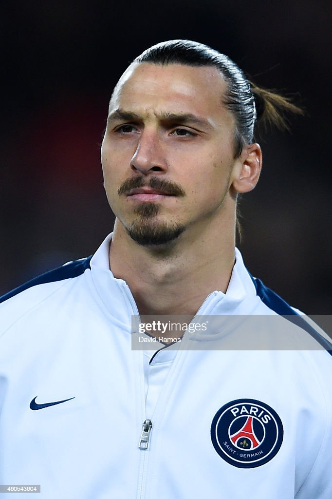 Zlatan Ibraimovic of Paris Saint-Germain FC looks on during the UEFA Champions League group F match between FC Barcelona and Paris Saint-Germanin FC at Camp Nou Stadium on December 10, 2014 in Barcelona, Spain.