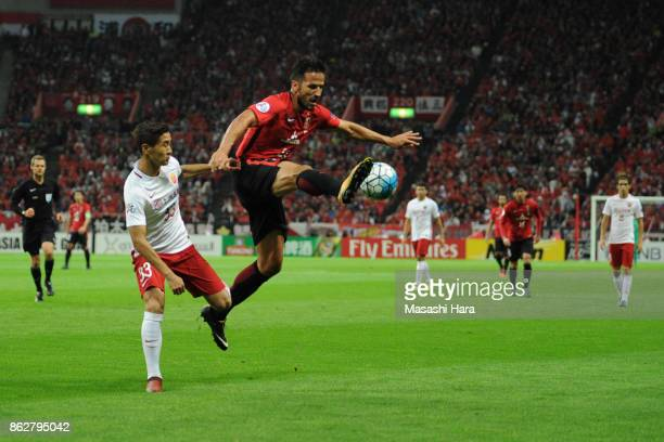 Zlatan Ljubijamkic of Urawa Red Diamonds in action during the AFC Champions League semi final second leg match between Urawa Red Diamonds and...