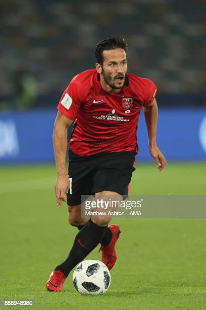 Zlatan Ljubijankic of Urawa Red Diamonds in action during the FIFA Club World Cup UAE 2017 match between Al Jazira and Urawa Red Diamonds at Zayed...