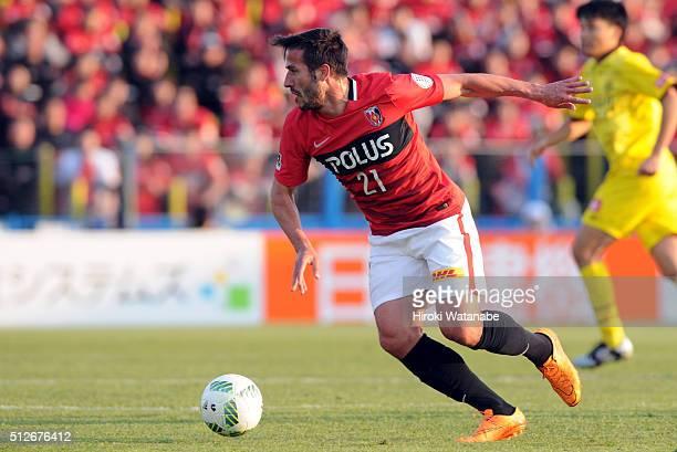 Zlatan Ljubijankic of Urawa Red Diamonds in action during the JLeague 2016 match between Kashiwa Reysol and Urawa Red Diamonds at the Hitachi Kashiwa...