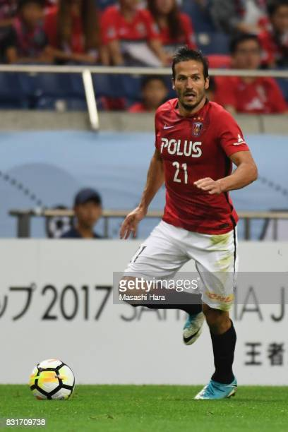 Zlatan Ljubijankic of Urawa Red Diamonds in action during the Suruga Bank Championship match between Urawa Red Diamonds and Chapecoense at Saitama...