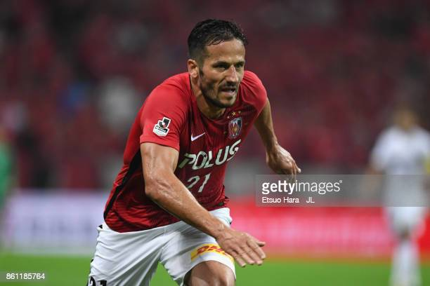 Zlatan@Ljubijankic of Urawa Red Diamonds in action during the JLeague J1 match between Urawa Red Diamonds and Vissel Kobe at Saitama Stadium on...