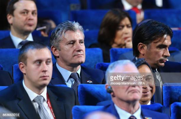 Zlatko Dalic Manager of Croatia during the Final Draw for the 2018 FIFA World Cup Russia at the State Kremlin Palace on December 1 2017 in Moscow...
