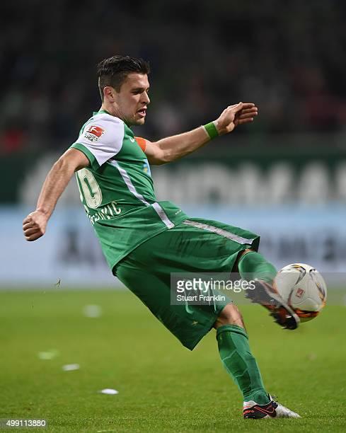 Zlatko Junuzovic of Bremen in action during the Bundesliga match between Werder Bremen and Hamburger SV at Weserstadion on November 28 2015 in Bremen...