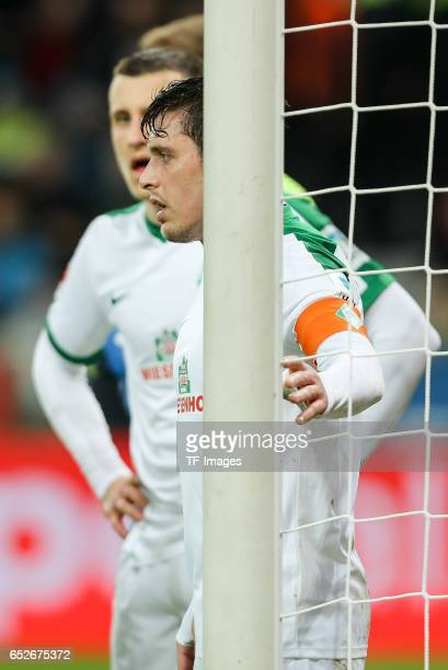 Zlatko Junuzovic of Werder Bremen looks on during the Bundesliga soccer match between Bayer Leverkusen and Werder Bremen at the BayArena stadium in...