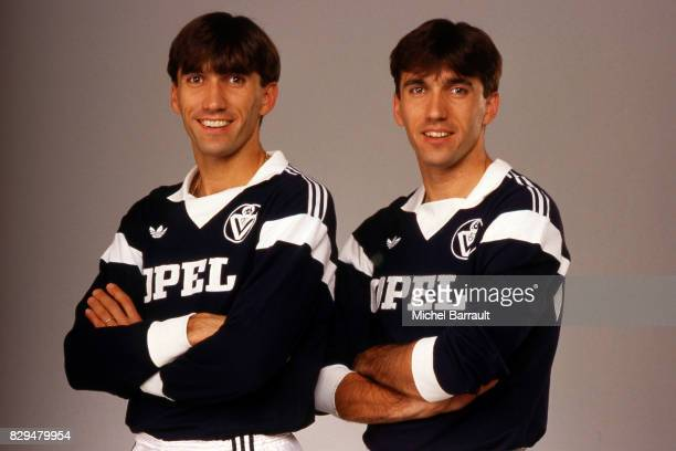 Zlatko Vujovic and Zoran Vujovic of Bordeaux during a photoshoot on February 13 in Bordeaux France