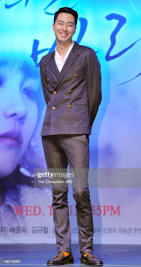Zo In-Sung attends the SBS Drama 'Wind Blow In Winter' press conference at Blue Square on January 31, 2013 in Seoul, South Korea.