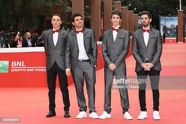 Zoda Federico Clapis Favij and Leonardo De Carli attend a red carpet for 'Game Therapy' during the 10th Rome Film Fest on October 21 2015 in Rome...