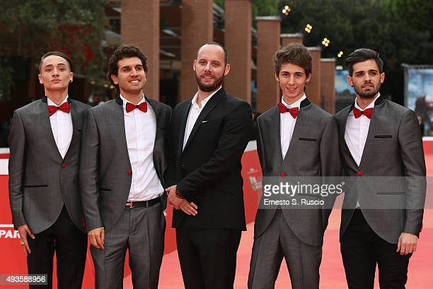 Zoda Federico Clapis Ryan Travis Favij and Leonardo De Carli attend a red carpet for 'Game Therapy' during the 10th Rome Film Fest on October 21 2015...