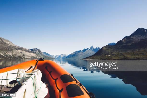 Zodiac in Tasermiut fjord