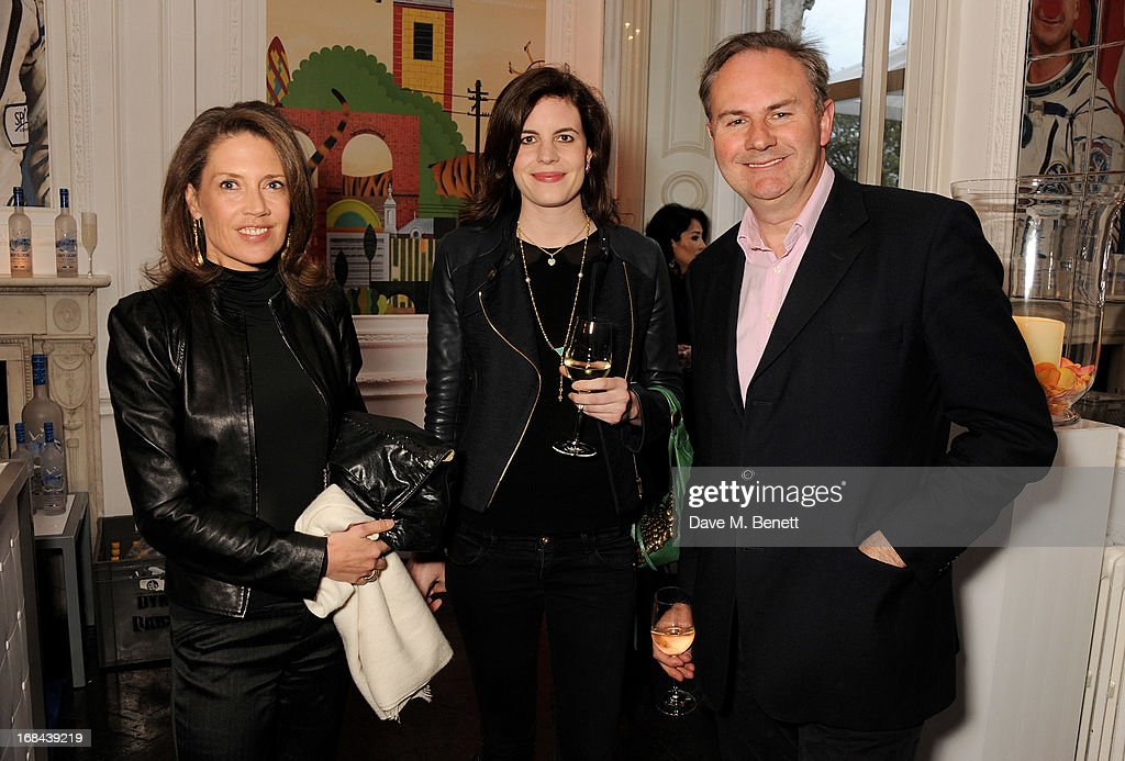 Zoe Appleyard-Ley, guest and Bill Cash attend the launch of Candy Magazine's Spring/Summer 2013 issue, supported by Grey Goose, at Il Bottaccio on May 9, 2013 in London, England.