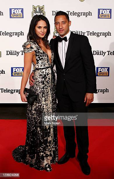 Zoe Balbi and Benji Marshall pose on the red carpet before the 2011 Dally M Awards at the Royal Hall of Industries Moore Park on September 6 2011 in...