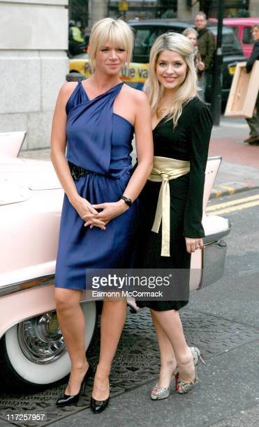 Zoe Ball and Holly Willoughby during Grease Is The Word Press Photocall at Bloomsbury Ballroom in London Great Britain