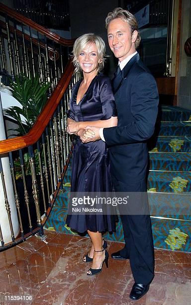Zoe Ball and Ian Waite during Rainbow Glass Slipper Ball 2005 at London Hilton in London Great Britain