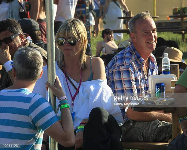 Zoe Ball and Norman Cook attend Glastonbury Festival at Worthy Farm on June 25 2010 in Glastonbury England
