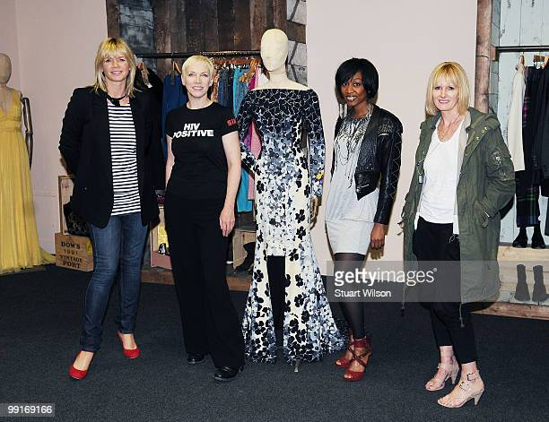 Zoe Ball Annie Lennox Beverley Knight and Jane Shepherdson attend the launch photocall for The Oxfam Curiosity Shop which includes items donated by...