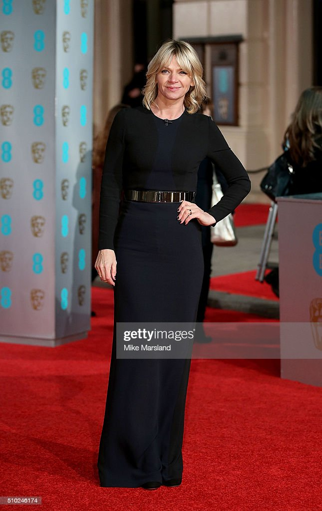 <a gi-track='captionPersonalityLinkClicked' href=/galleries/search?phrase=Zoe+Ball&family=editorial&specificpeople=216374 ng-click='$event.stopPropagation()'>Zoe Ball</a> attends the EE British Academy Film Awards at The Royal Opera House on February 14, 2016 in London, England.