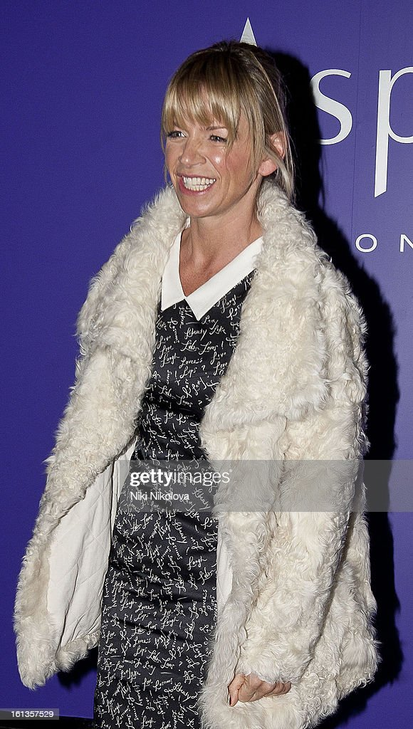 <a gi-track='captionPersonalityLinkClicked' href=/galleries/search?phrase=Zoe+Ball&family=editorial&specificpeople=216374 ng-click='$event.stopPropagation()'>Zoe Ball</a> attends The EE British Academy Film Awards Nominees Party at Asprey on February 9, 2013 in London, England.