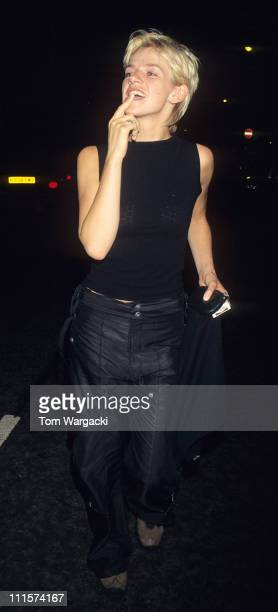 Zoe Ball during Zoe Ball Sighting at the Met Bar September 24 1998 in London Great Britain
