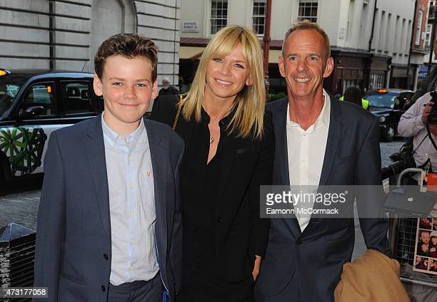 Zoe Ball Norman Cook and their Son Woody Cook attends the UK Gala screening of 'Man Up' at The Curzon Mayfair on May 13 2015 in London England