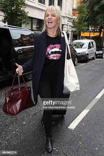 Zoe Ball seen at BBC Radio 2 on October 30 2015 in London England
