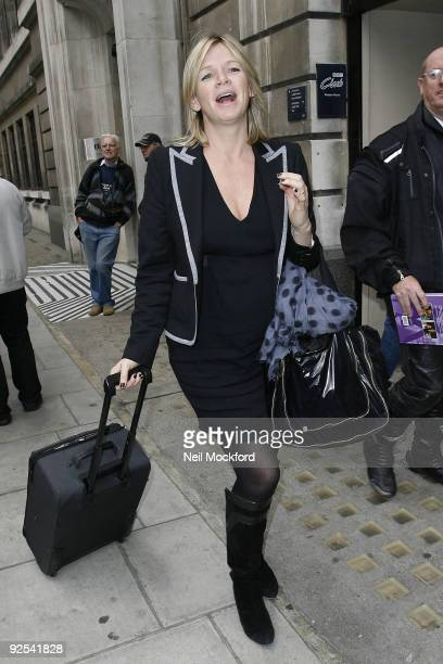 Zoe Ball sighted leaving BBC Radio 2 on October 30 2009 in London England