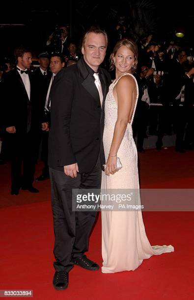 Zoe Bell and Quentin Tarantino arrive for the screening of 'Death Proof' during the 60th annual Cannes Film Festival in Cannes France Picture date...