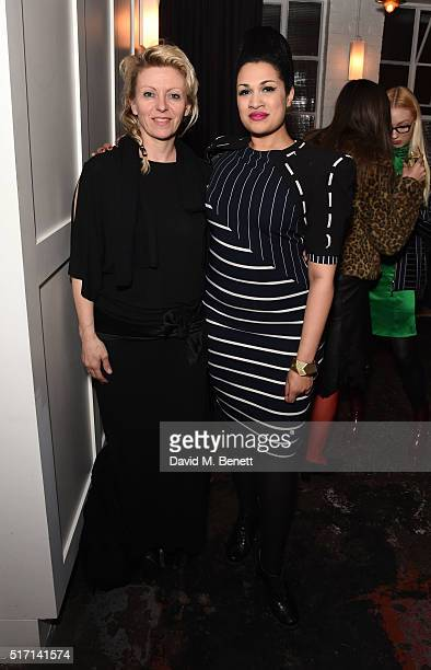 Zoe Broach and Bishi attend Ffrench Pharmaceuticals Presents Culinary Cosmetics on March 23 2016 in London England