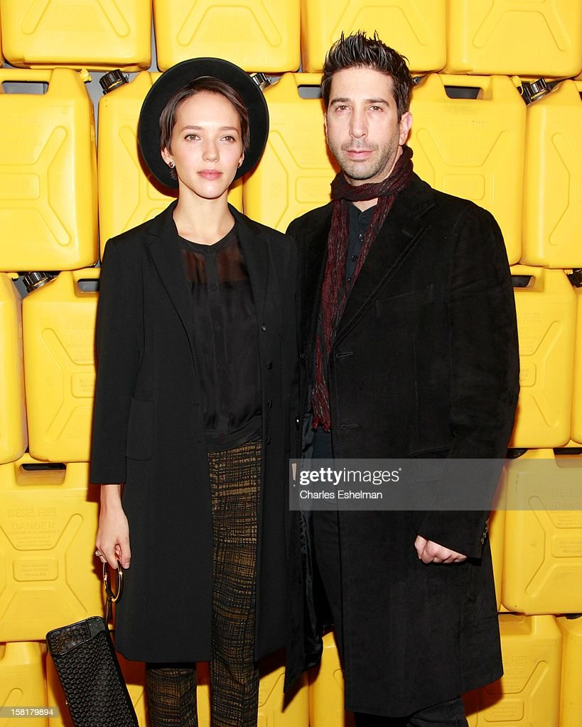 Zoe Buckman and actor <a gi-track='captionPersonalityLinkClicked' href=/galleries/search?phrase=David+Schwimmer&family=editorial&specificpeople=206148 ng-click='$event.stopPropagation()'>David Schwimmer</a> attend the 7th annual Charity Ball Benefiting Charity:Water at the 69th Regiment Armory on December 10, 2012 in New York City.