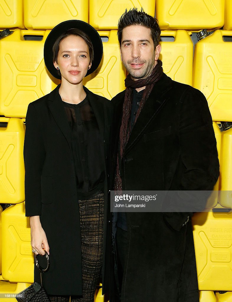 Zoe Buckman and <a gi-track='captionPersonalityLinkClicked' href=/galleries/search?phrase=David+Schwimmer&family=editorial&specificpeople=206148 ng-click='$event.stopPropagation()'>David Schwimmer</a> attend 7th Annual Charity Ball Benefiting Charity:Water at the 69th Regiment Armory on December 10, 2012 in New York City.