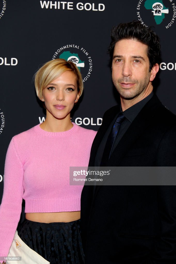 Zoe Buckman and <a gi-track='captionPersonalityLinkClicked' href=/galleries/search?phrase=David+Schwimmer&family=editorial&specificpeople=206148 ng-click='$event.stopPropagation()'>David Schwimmer</a> attend a special screening of 'White Gold' at Museum of Modern Art on November 12, 2013 in New York City.