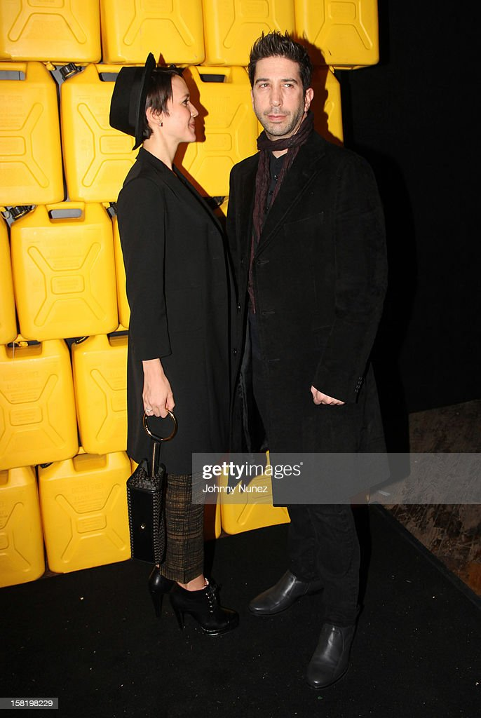 Zoe Buckman and David Schwimmer attend the 7th Annual Charity Ball at the 69th Regiment Armory on December 10, 2012 in New York City.